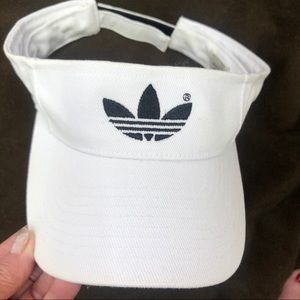 Adidas White Cotton Sun Visor
